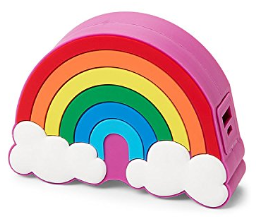 Rainbow and Clouds power bank