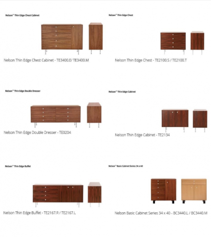 Recalled Herman Miller Nelson cabinets