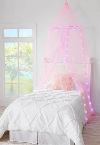 Recalled Justice Light Up Bed Canopy set (pink)