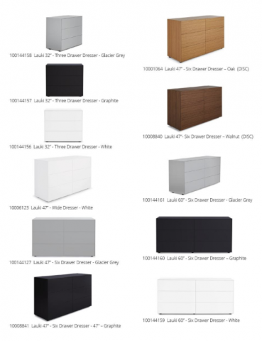 Recalled Lauki dressers