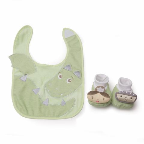 Dragon bib and bootie set