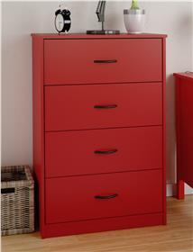 Ameriwood Mainstays chest of drawers in ruby red- 5412317PCOM