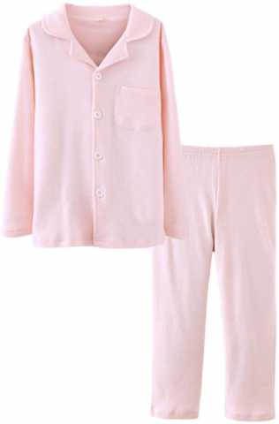 ASHERGAL children's two-piece pajama set in pink