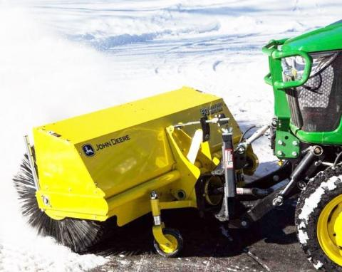 60-inch Broom Attachment for John Deere Compact Utility Tractor
