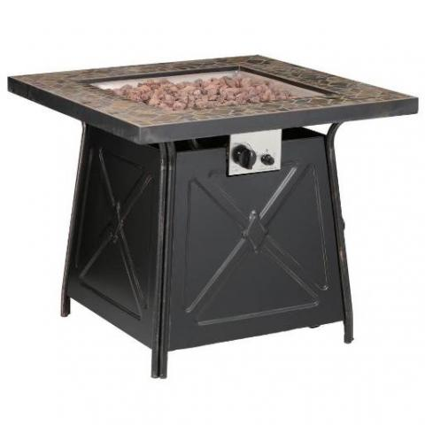 Outdoor Gas Fire Pit Table Patio Heater