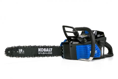 Kobalt 80-volt 18-inch brushless cordless electric chainsaw