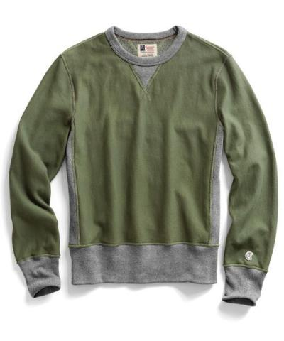 Recalled men's Todd Snyder + Champion sweatshirt in Washed Olive