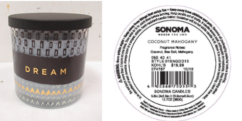 Recalled Kohl's Dream Candle