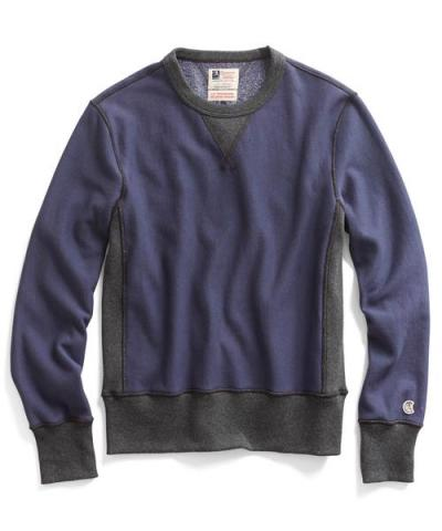 Recalled men's Todd Snyder + Champion sweatshirt in Navy