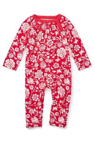 Vermillion Painted OPP Floral Romper, Style Number: 7F32500