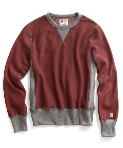 Recalled men's Todd Snyder + Champion sweatshirt in Crimson
