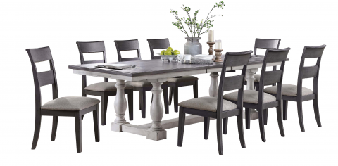 Recalled Bayside Furnishings Lawler-9-PC-Dining Set