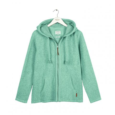Yarmouth Textured Zip Through Sweater in Ocean Surf (918041)