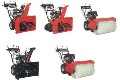 Ariens and Sno-Tek Snow Throwers and Ariens and Gravely All-Season Brushes