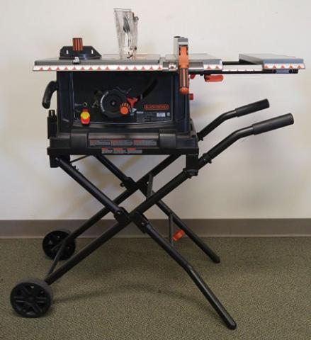 Black+Decker portable table saw