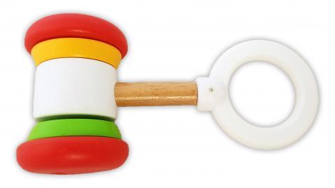 BRIO soft hammer baby rattle