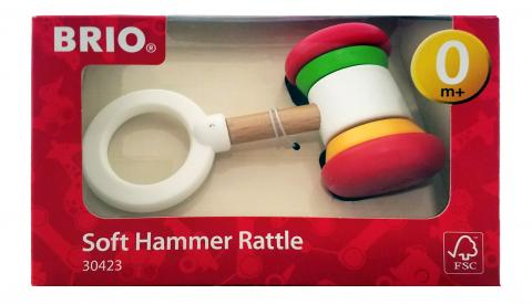 BRIO soft hammer baby rattle in box