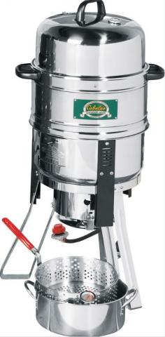 Recalled stainless steel body with Cabela's logo