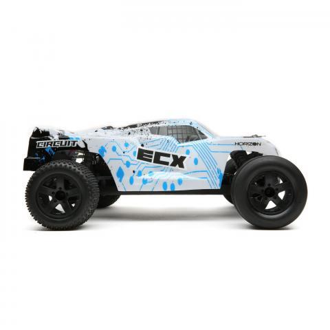 ECX03130T1 ECX 1/10 Circuit 2WD LiPo White/Blue