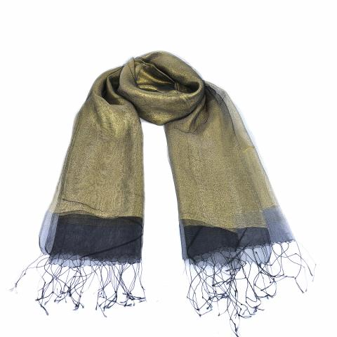 DG women's scarf – black gold