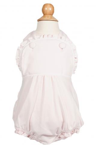 Eloise bubble children's playwear shown in light pink colorway