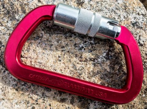 Front side of the recalled G-FIRST series carabiners