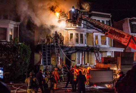 Harrisburg, Pa. LayZ Board Fire