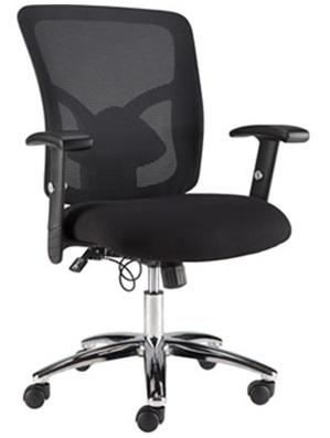 staple mesh with staples crusader chairs arms office reviews footrest ergonomic fabric without furniture reclining chair black desk