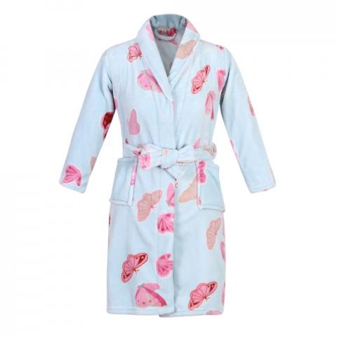 Recalled Richie House children's robe in blue with butterfly print