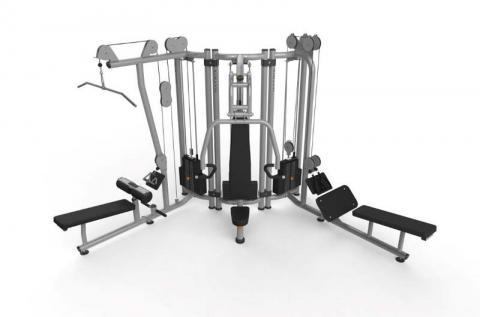 Recalled multi-station strength training towers