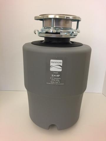 Kenmore 70351 3/4 HP Disposal (model no. 587-70351E)