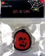 Adorno de calabaza naranja y negra adherible de gel LED