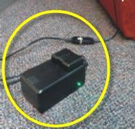 Power supply connected to lift chair