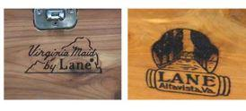 Brand name on Lane and Virginia Maid Cedar Chests