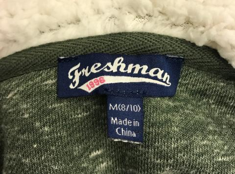 Close Up of Freshman Label