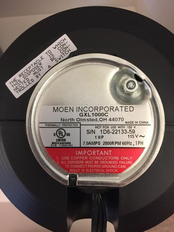 Moen sample serial number plate