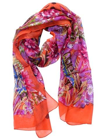 Multicolor Abstract Pattern Silk Scarf – Scarves for Girls and Women