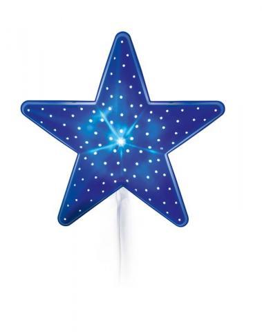 La estrella azul es el modelo STJÄRNA de las lámparas para niños de montaje en pared de IKEA