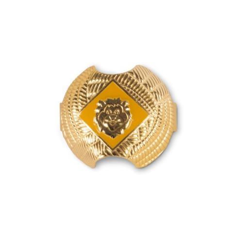 Orange lion neckerchief slide