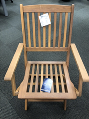 Recalled outdoor wooden folding chair