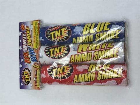 TNT Red, White, & Blue smoke fireworks