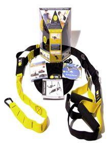 Picture of recalled suspension trainer device and its packaging