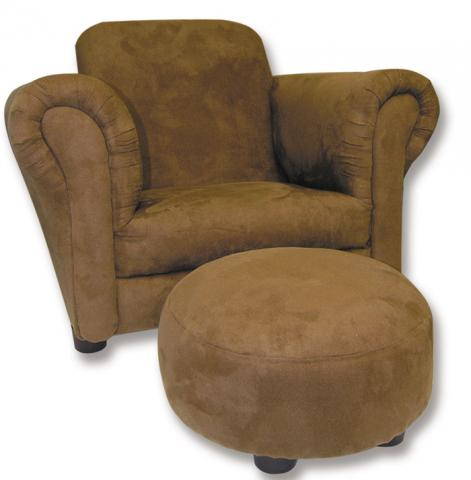 Club style chair with ottoman