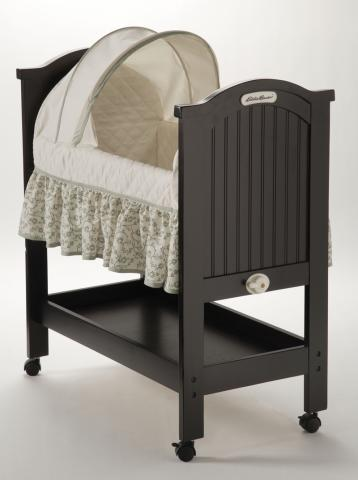Picture of recalled rocking wood bassinet