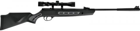 Recalled Striker air rifle - Black showing location of rear grip and forearm grip