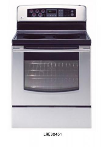 Picture of recalled LRE30451 electric range