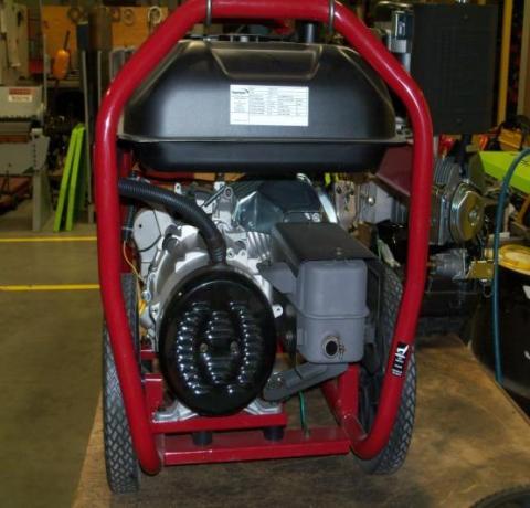 rear view of powermate generators