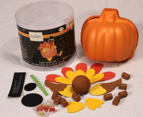 Foam Pumpkin Turkey Craft Kit