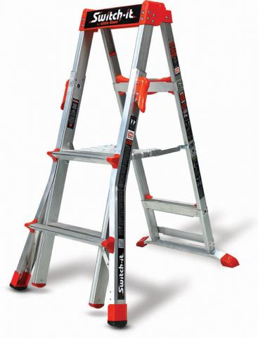 Switch-it stepstool /stepladder in the 2-foot stepstool configuration