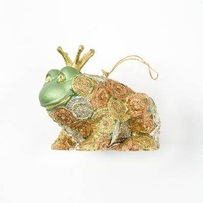Ornament Frog Prince Sitting